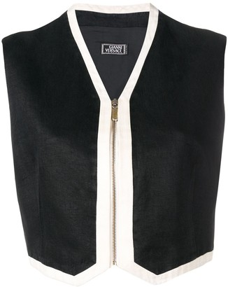 Versace Pre Owned 1990's Cropped Zipped Vest