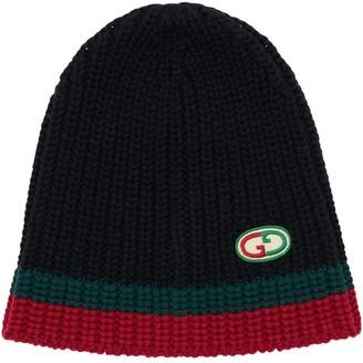 Gucci Knit Wool Hat W/ Web