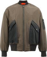 Drome contrast panel bomber jacket