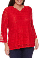 Alfred Dunner Tunic Top Plus