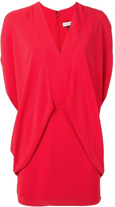 Halston Draped-Side Mini Dress