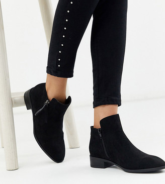 Simply Be wide fit ankle boot in black