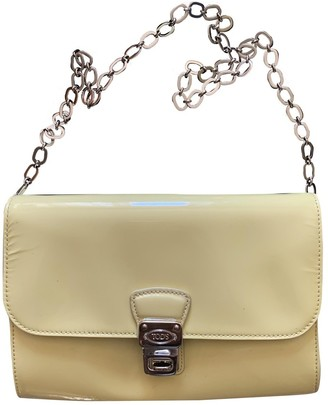 Tod's Yellow Patent leather Handbags