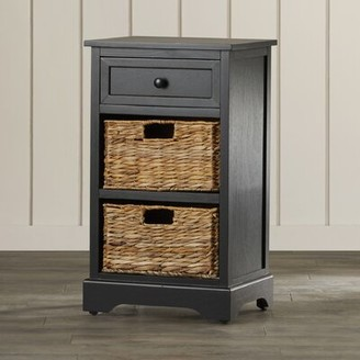 Beachcrest Home Santa Cruz Solid Wood 3 Drawer End Table Color: Vintage Grey
