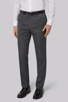 French Connection Slim Fit Charcoal Jacquard Pants