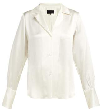 Nili Lotan Emmen Silk Shirt - Womens - Ivory