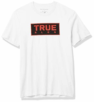 True Religion Men's Hand Shake Short Sleeve Crewneck Tee