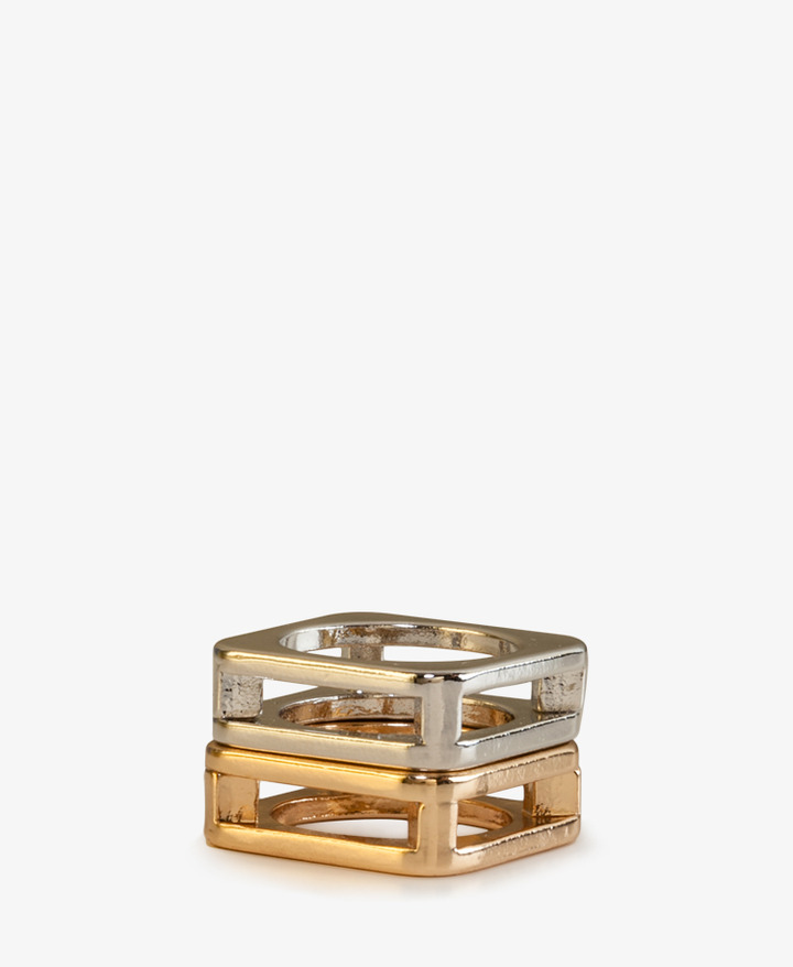 Forever 21 Cutout Square Ring Set