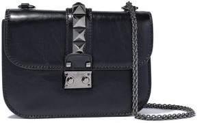 Valentino Garavani Glam Lock Crinkled Glossed-leather Shoulder Bag