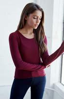 PS Basics by Pacsun Lettuce Hem Long Sleeve T-Shirt