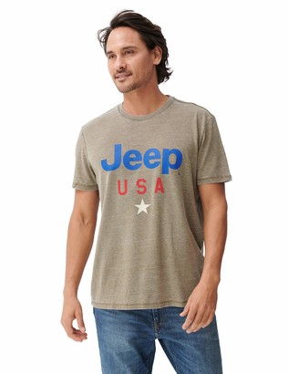 Lucky Brand Men's Short Sleeve Crew Neck Jeep USA Star Tee