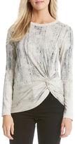 Karen Kane Long Sleeve Twist Top
