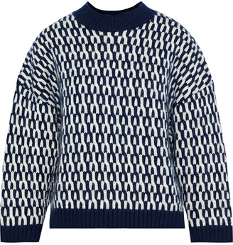 Sonia Rykiel Wool And Mohair-blend Jacquard Sweater