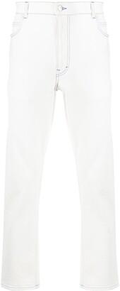 Stella McCartney Contrasting Stitch Straight-Leg Jeans