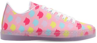 10mm Unicorn Print Cotton Sneakers