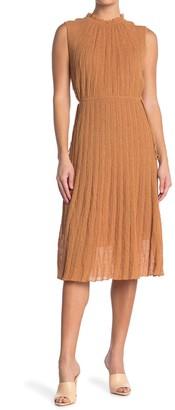 M Missoni Textured Mock Neck Knit Midi Dress