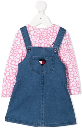 Tommy Hilfiger Junior Denim Dungaree Dress With Top