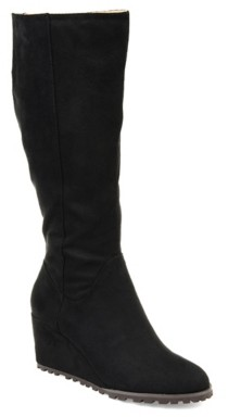 Journee Collection Parker Extra Wide Calf Wedge Boot