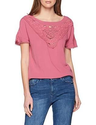 Only Women's Onlsabrina Ss Top WVN T-Shirt, Blue Night Sky, 14 (Size: )