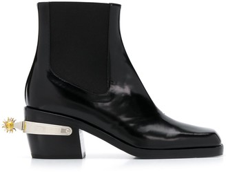 Nodaleto Spur Detail Ankle Boots