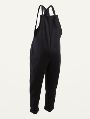 Old Navy Maternity French Terry Knotted-Strap Overalls