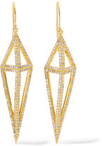 Noir Montaillou Gold-Tone Crystal Earrings