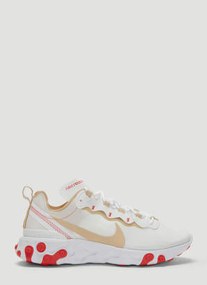Nike React Element 55 Sneakers in White