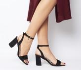 Office Marigold Strappy Heels Black