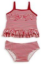 Kate Mack Baby's Bows Ahoy Two-Piece Stripe Tankini Set