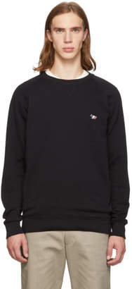 MAISON KITSUNÉ Black Tricolor Fox Patch Sweatshirt