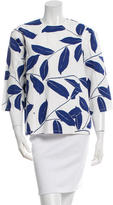 Marni Three-Quarter Sleeve Floral Print Top w/ Tags