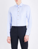 Eton Contemporary-fit geometric cotton shirt