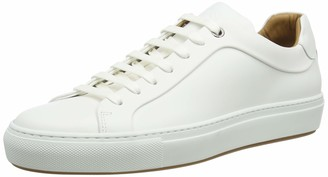 HUGO BOSS Mens Mirage Tenn Italian-Crafted Trainers in Burnished Leather White