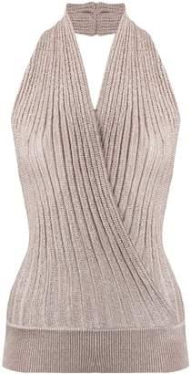 Missoni Halter Neck Metallic-Knitted Top