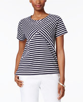 Alfred Dunner Lady Liberty Collection Striped Top