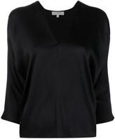 Thumbnail for your product : Antonelli V-neck silk-blend blouse