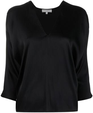 Antonelli V-neck silk-blend blouse