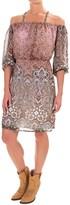 Wrangler Cold-Shoulder Print Dress - Fully Lined, 3/4 Sleeve (For Women)