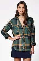 La Hearts Plaid Flannel Button-Down Shirt