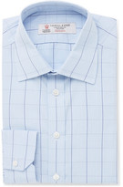 Turnbull & Asser Blue Slim-fit Prince Of Wales Checked Cotton Shirt - Blue
