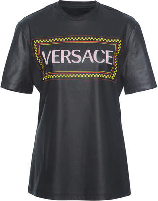 Versace Crewneck Coated Jersey T-Shirt