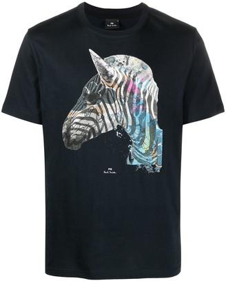 Paul Smith zebra print T-shirt
