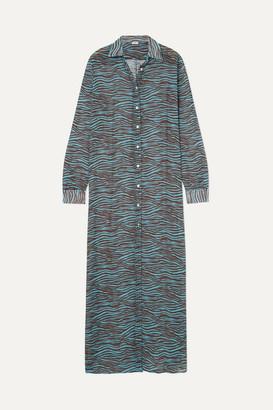 MeDusa Ack ACK Tiger-print Chiffon Maxi Dress - Brown