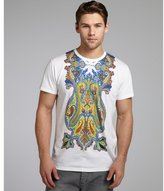 Etro white paisley printed cotton short sleeve t-shirt