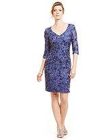 Alex Evenings V-Neck Rosette Sheath Dress