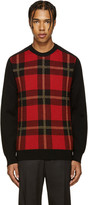 Balmain Black & Red Tartan Sweater