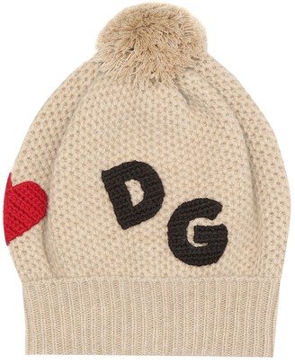 Dolce & Gabbana Kids Wool and cashmere beanie