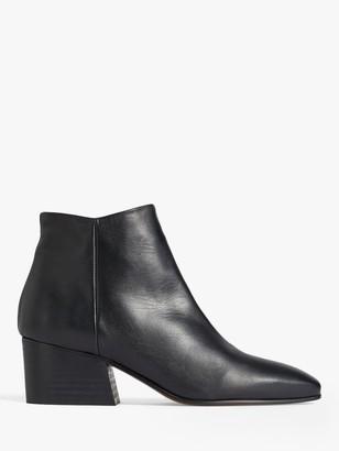Jigsaw Dapper Block Heel Leather Ankle Boots