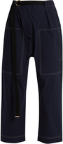 Marni Contrast-stitch cropped trousers