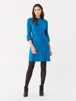 Diane von Furstenberg Sella Ribbed Merino Mini Dress